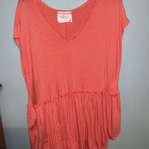 Orange and white stripped shirt
